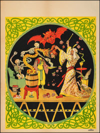 """Magic Poster (c. 1930s). Fine on Linen. Stock Poster (28"""" X 37.25""""). Miscellaneous"""