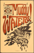 """Movie Posters:Rock and Roll, Muddy Waters at the Egress (1973). Very Fine+. Concert Poster (11"""" X 17"""") Grant Shankaruk Artwork. Rock and Roll.. ..."""