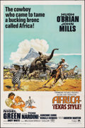 """Movie Posters:Adventure, Africa - Texas Style! & Other Lot (Paramount, 1967). Folded, Very Fine-. One Sheets (2) (27"""" X 41""""). Frank McCarthy Artwork.... (Total: 2 Items)"""