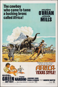 "Africa - Texas Style! & Other Lot (Paramount, 1967). Folded, Very Fine-. One Sheets (2) (27"" X 41""). Frank..."
