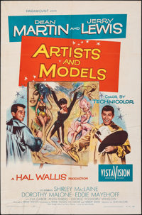 """Artists and Models (Paramount, 1955). Folded, Fine/Very Fine. One Sheet (27"""" X 41"""") Joseph Smith Artwork. Come..."""