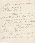 "Autographs:Non-American, Charles Bell Autograph Letter Signed ""Charles Bell."