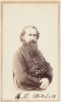 Photography:CDVs, Robert B. Mitchell Signed Carte de Visite....