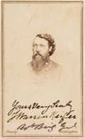 Photography:CDVs, Joseph Warren Keifer Signed Carte de Visite