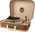 Music Memorabilia:Memorabilia, The Beatles Suitcase Style Portadyne Original Phonograph Player (U.K. 1963/64)....