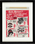 Music Memorabilia:Memorabilia, The Beatles Two Advertisements Portrait Offer & Maniacs Goodies Offer (2) (1960's)....