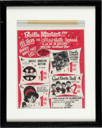 The Beatles Two Advertisements Portrait Offer & Maniacs Goodies Offer (2) (1960's)