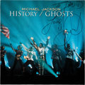 Music Memorabilia:Autographs and Signed Items, Michael Jackson Signed and Inscribed HIStory/Ghosts Vinyl EP (Epic, EPC 664615 6)....