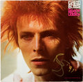 Music Memorabilia:Autographs and Signed Items, David Bowie Signed Space Oddity Vinyl LP (RCA International)....