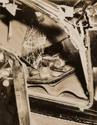 Weegee (American, 1899-1968) Grim Reaper Thumbs a Lift When You 'Go to Town,' Car Crash, S. Portland & Fulton Street...