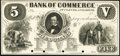 Obsoletes By State:Ohio, Cleveland, OH- Bank of Commerce at Cleveland $5 18___ OH-155 G12 SENC, Wolka 0700-10 Proof Extremely Fine, 4 POCs.. ...
