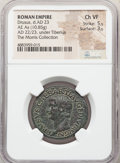 Ancients:Roman Imperial, Ancients: Drusus, as Caesar (AD 19-23). AE as (28mm, 10.85 gm, 12h). NGC Choice VF 5/5 - 3/5....