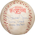 Baseball Collectibles:Balls, 2004 Mariano Rivera All-Star Game Final Out Baseball with Player Letter. ...