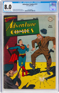 Adventure Comics #117 (DC, 1947) CGC VF 8.0 Off-white to white pages