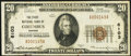National Bank Notes:Kansas, Columbus, KS - $20 1929 Ty. 1 The First National Bank Ch. # 6103 Very Fine.. ...