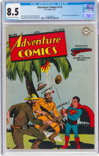 Adventure Comics #115 (DC, 1947) CGC VF+ 8.5 Off-white to white pages