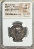 Ancients:Roman Imperial, Ancients: Augustus (27 BC-AD 14). AR cistophorus (29mm, 10.29 gm, 5h). NGC VF 4/5 - 4/5, overtstruck....