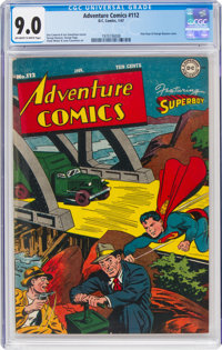 Adventure Comics #112 (DC, 1947) CGC VF/NM 9.0 Off-white to white pages