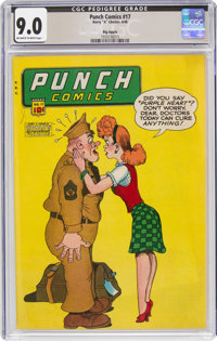 Punch Comics #17 Big Apple Pedigree (Chesler, 1946) CGC VF/NM 9.0 Off-white to white pages