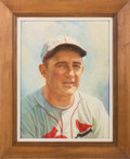 Baseball Collectibles:Others, Circa 1950's Frankie Frisch Original Painting by Griffith ...