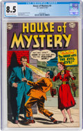 Golden Age (1938-1955):Horror, House of Mystery #4 (DC, 1952) CGC VF+ 8.5 Off-white to white pages....