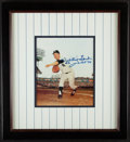 Autographs:Photos, Framed Whitey Ford Signed Photograph. Offered is a...