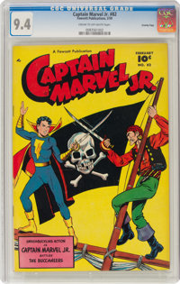 Captain Marvel Jr. #82 Crowley Copy Pedigree (Fawcett Publications, 1950) CGC NM 9.4 Cream to off-white pages