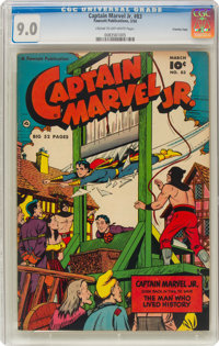 Captain Marvel Jr. #83 Crowley Copy Pedigree (Fawcett Publications, 1950) CGC VF/NM 9.0 Cream to off-white pages