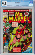 Bronze Age (1970-1979):Superhero, Ms. Marvel #1 (Marvel, 1977) CGC NM/MT 9.8 White pages....