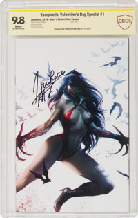 Vampirella: Valentine's Day Special #1 Scott's Collectables Variant - Witnessed Signature Series (Dynamite Entertainment...