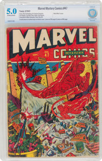 Marvel Mystery Comics #47 (Timely, 1943) CBCS VG/FN 5.0 Off-white to white pages