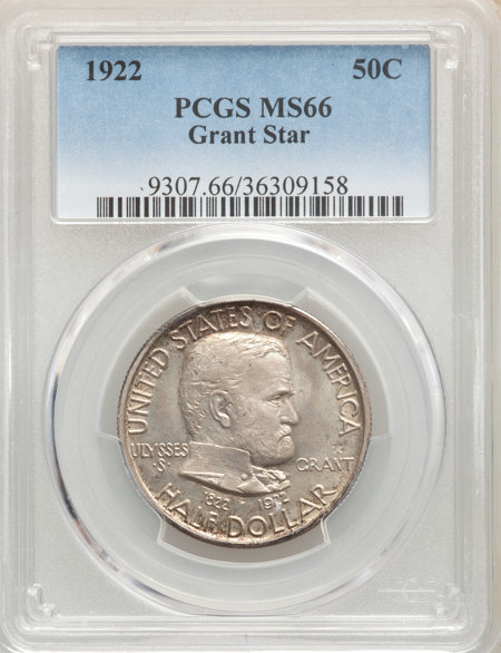 1922 50C Grant With Star, MS 66 PCGS