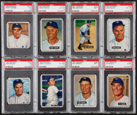 1950-52 Bowman New York Yankees PSA Graded Collection (8)
