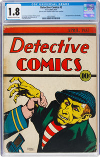 Detective Comics #2 (DC, 1937) CGC GD- 1.8 Cream to off-white pages