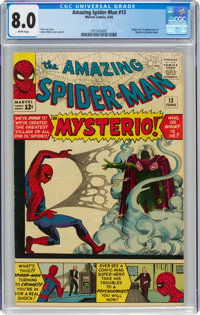 The Amazing Spider-Man #13 (Marvel, 1964) CGC VF 8.0 White pages