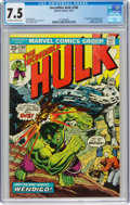 Bronze Age (1970-1979):Superhero, The Incredible Hulk #180 (Marvel, 1974) CGC VF- 7.5 Off-white to white pages....