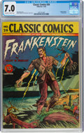 Golden Age (1938-1955):Classics Illustrated, Classic Comics #26 Frankenstein - First Edition (Gilberton, 1945) CGC FN/VF 7.0 Off-white to white pages....