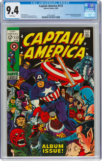 Captain America #112 (Marvel, 1969) CGC NM 9.4 White pages