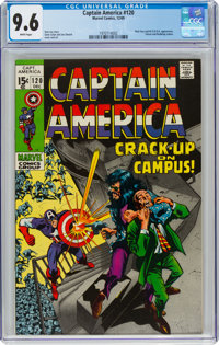 Captain America #120 (Marvel, 1969) CGC NM+ 9.6 White pages