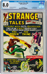 Strange Tales #128 (Marvel, 1965) CGC VF 8.0 Off-white to white pages