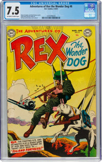 Adventures of Rex the Wonder Dog #8 (DC, 1953) CGC VF- 7.5 Off-white to white pages