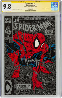 Spider-Man #1 Silver Edition Unbagged - Signature Series (Marvel, 1990) CGC NM/MT 9.8 White pages
