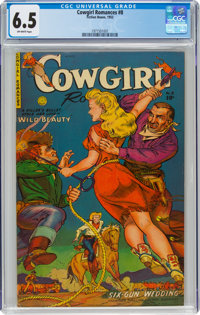 Cowgirl Romances #8 (Fiction House, 1952) CGC FN+ 6.5 Off-white pages