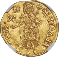 Italy: Florence. Republic gold Florin ND (1526-1527) MS63 NGC