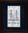 Baseball Collectibles:Others, 2008 Final Game at Old Yankee Stadium New York Yankees Line-Up Card....