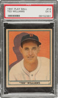 Baseball Cards:Singles (1940-1949), 1941 Play Ball Ted Williams #14 PSA EX 5....
