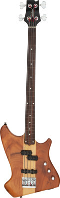 Circa 1980's Karl Sandoval Custom Fretless Natural Electric Bass Guitar