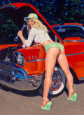 Paintings, Greg Hildebrandt (American, b. 1939). Grease Monkey, 2008. Acrylic on canvas. 27 x 20 inches (68.6 x 50.8 cm). Signed lo...