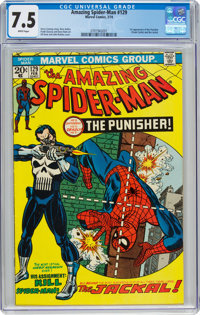 The Amazing Spider-Man #129 (Marvel, 1974) CGC VF- 7.5 White pages