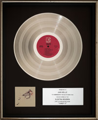 The Cars Candy-O In-House Platinum Sales Award Presented to Concert Promoter Jack Belle (Elektra, 1979)